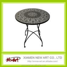 Metal garden crafts table, decorative garden crafts