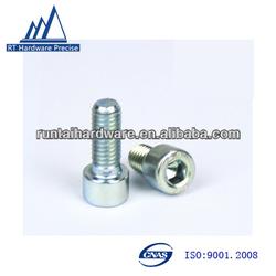Znic bule m8 socket cap screw with hex head ,cap screw bolts made in china