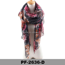 Customized design printing ladies custom polyester scarf
