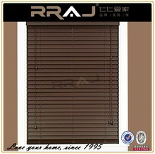automated wood blind curtain for living room