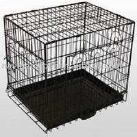 Deluxe Metal Dog Cage with ABS tray