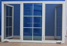 PVC outward casement window with grills and mosquito net