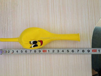 factory 12inch yellowstandard color tail balloon