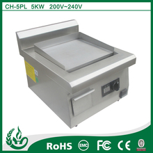 Induction electric griddle with table top design