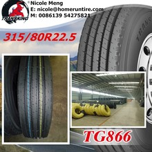 Heavt duty truck tires 315/80 R22.5 60 tonnes durable in hot condition and can travel long distance in hot sunny