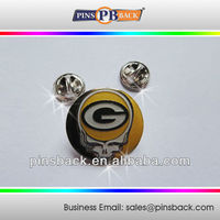 """Skull Metal Soft Enamel Lapel Pins with epoxy dome-butterfly clutch back lapel pins-round/1"""""""