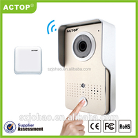 ACTOP two way real intercom alarm system wireless support to record video and photo