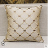 European luxury Pillow Cushion Queen Beige bed embroidered cushion