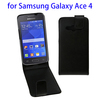 Quality guarantee vertical leather case for samsung galaxy ace 4 flip cover