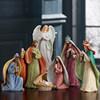 Handmade resin nativity set jesus birth with led lighted