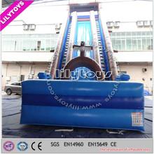 Inflatable slip n slide/ giant city inflatable slide / 300m cheap big water slide for sale