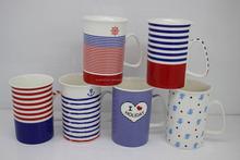 Ocean style 12 oz ceramic container
