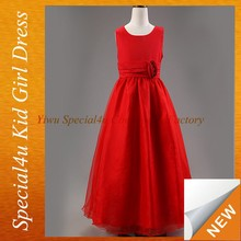 Red fancy long dresses for girls of 10 year old SFUBD-901