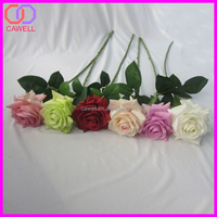 H.S CODE 6702100000 cheap natural touch multi colored artificial rose for flower arrangement