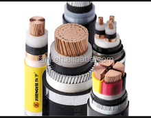 132KV High Voltage Power Cable XLPE Cu Conductor XLPE Insulated Copper tape Screen PVC inner sheath Steel Wire Armored PVC outer