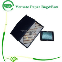Wholesale Custom Design Handmade Paper Black Bow Tie Hinged Boxes, Black Storage Box Packaging with Magnetic Closure