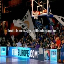 indoor perimeter led display for basketball natch advertising