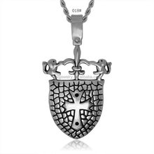 High Quality Stainless Steel Coustome Punk Square Wholesale Charm Locket Pendant Jewelry