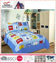 Best selling cute cars pattern printed luxury baby quilt