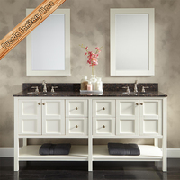Bath Solid Wooden Vanity Bathroom Vanity Cabinet Unit Made In China