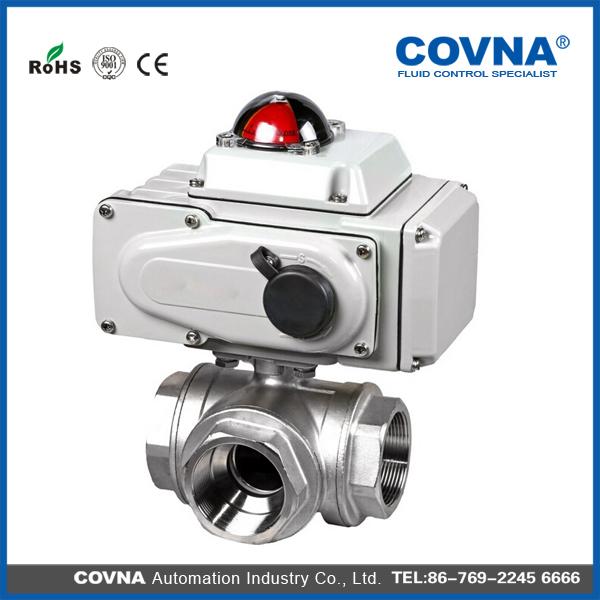 Plastic electric flow control valve electric actuator for Motorized flow control valve