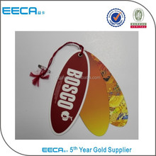 China gold suppliers oval paper tag,garment label wholesale