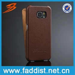For Samsung Galaxy s6 case, Hot selling leather flip case for Samsung S6