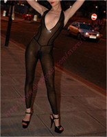 Fashion women 2015 Latex rubber teddies exotic apparel zentai transparent black catsuits for women plus size Hot sale