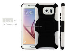 Hybrid Tough Armor Gel Case soft pc cover silicone case for samsung s6