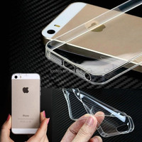 2014 new 0.3mm Crystal Clear Soft Silicone Transparent TPU Case cover for iphone 5 5S 4 4s