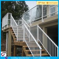wood and iron stairs railing