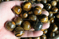 Hot Sales ! Natural Tiger Eye Quartz Crystal Spheres Balls Polished Healing 25-30mm