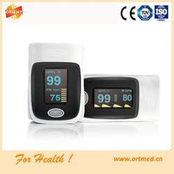 CE approved OLED display SPO2 PR oximeter portable fingertip pulse oximeter