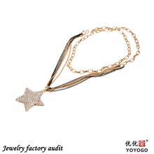 2014 factory sale free shipping chunky fashion necklace, star sharpe