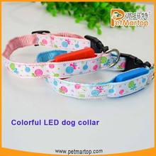 New and hot selling colorful led flashing pet collar factory price led dog collar TZ-PET3600
