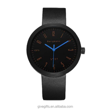 2015 Hot selling genuine leather strap big dail Bergmann fashion watch