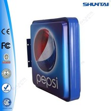 wall mounted acrylic formed silk screen outdoor light box