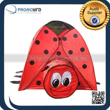 Funny Kids Play Tent Ladybug Shape Red Color Plastic Mini Play Game Houses With Tunnel