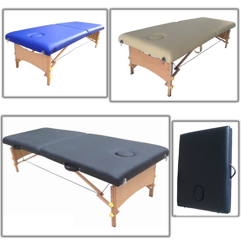 Folding and portable wooden massage bed beauty salon for Table salon retractable