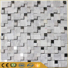 Foshan stainless steel mix natural stone mosaic tile