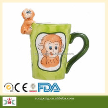 2016 Lucky money cartoon animal 3D ceramic mug