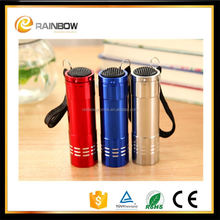 Wholesale promotional flashlight 9 led torch light manufactures