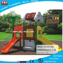 2015 colored plastic playground slide /outdoor park play equipment