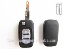 3 botón flip cáscara dominante alejada llave de repuesto del coche cubierta para renault directo de fábrica