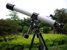 Telescopio astronómico refractor profesional de alta potencia, precio de telescopio astronómico con trípode