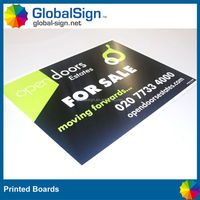 Shanghai GlobalSign hot selling and advertising corflute boards