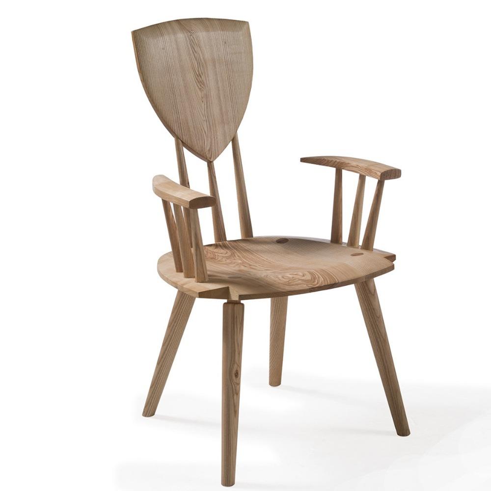Modern design houten hoge rug woonkamer stoelen armleuning ...
