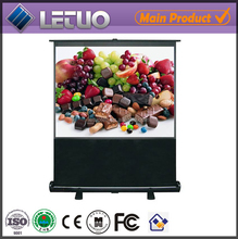 china manufacturer protable floor standing pull down 200 inch projector screen