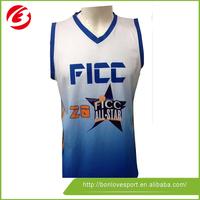 Digital Print Wholesale Blank Basketball Jerseys