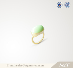 Healing stone jewelry fashion manufacturer unique design gold plated big ring